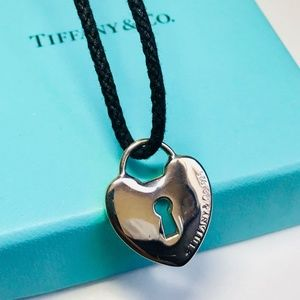 Tiffany & Co. Silver Large Heart Lock Pendant
